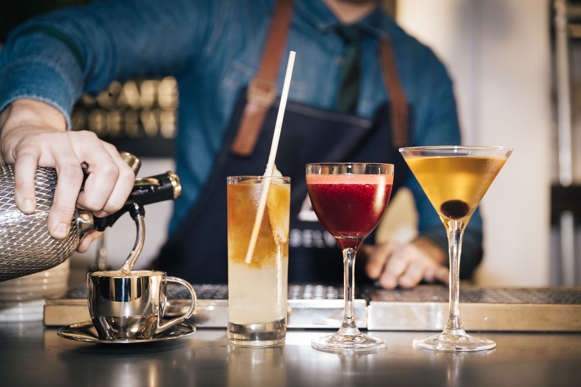 Belvedere Vodka launches Cafe Belvedere, a week long coffee cocktail pop up in Soho's Bateman Street open to consumers throughout London Fashion Week